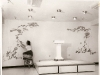 1964 - Mrs. Ethel Hirdler at work creating mural in Hornaday Hall